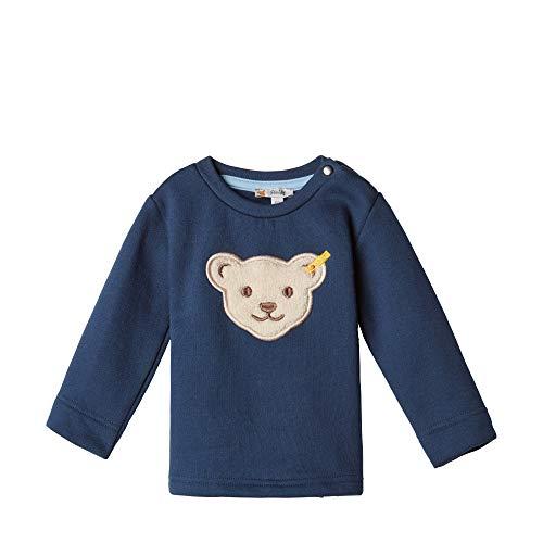 Steiff Baby-Jungen Sweatshirt, Blau (BLACK IRIS 3032), 74 (Herstellergröße:74)