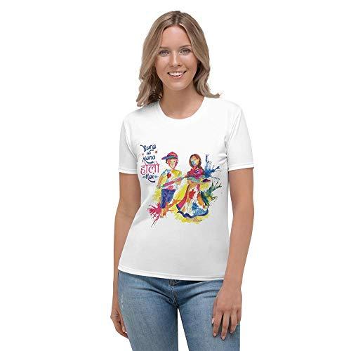 Family Shoping Bura Na Mano Holi Hai Girls Regular Dri-Fit T-Shirt_Large White
