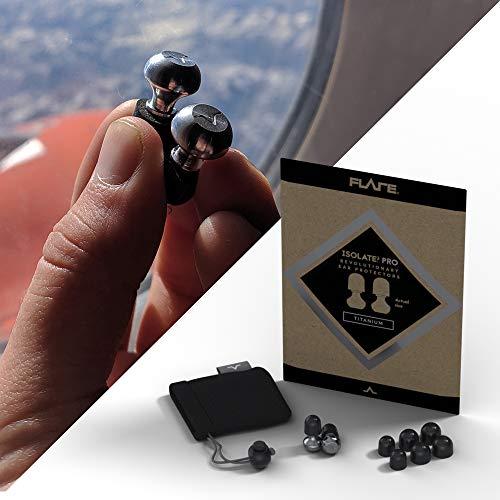 Isolate® 2 PRO High Tech zertifizierte solide Titan Ohrstöpsel für Konzerte, Festivals, Motorradfahren, Gesundheit & Sicherheit (gefrästes Titan-Finish)