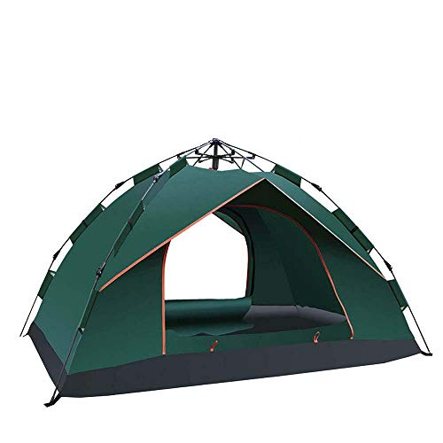 Holdfiturn Pop Up Tent Double Doors Dome Tent 2-3 man Pop Up Tent Windproof Rain-Proof And Warm...