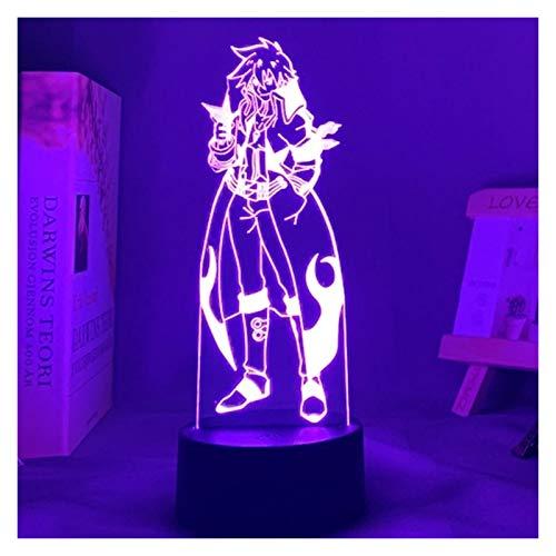 JJSNN Luz Nocturna GUREN Lagann Simon LED Luz Nocturna para decoración de Dormitorio Lámpara de Noche Tengen Toppa Gurren Lagann Regalo Acrílico Neon Lámpara 3D (Color : 7 Colors no Remote)