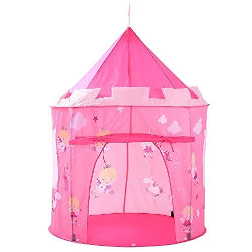 Veelzijdige kindertent Roze Engel Kasteel Play Tent Wolk Pop-up Game House Schattige Opvouwbare Prinses Theater Tent Voor (Color : Pink, Size : 102x102x140cm)