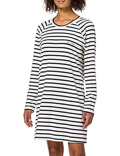 Marc O'Polo Body & Beach Damen W-Sleepshirt LS Crew-Neck Nachthemd, anthrazit, M