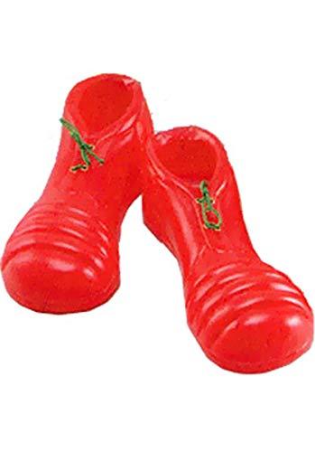 Bristol Novelty Novelty-BA084 Ba084 PVC Chaussures de Clown, Rouge, Taille Unique, Red