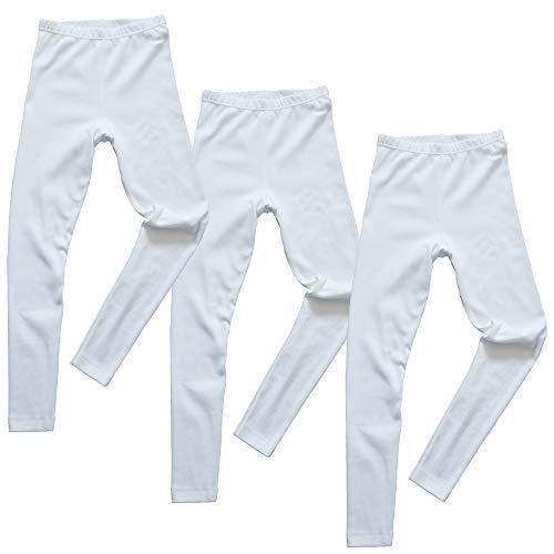 HERMKO 2720 3er Pack Kinder Legging aus Bio-Baumwolle, Farbe:weiß, Größe:98