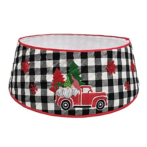Falda para árbol de Navidad, falda de árbol de Navidad, cuello de base plisado, alrededor de Navidad, decoración del hogar, falda de árbol de Navidad (color: 2, diámetro de la falda del árbol: 77 cm)