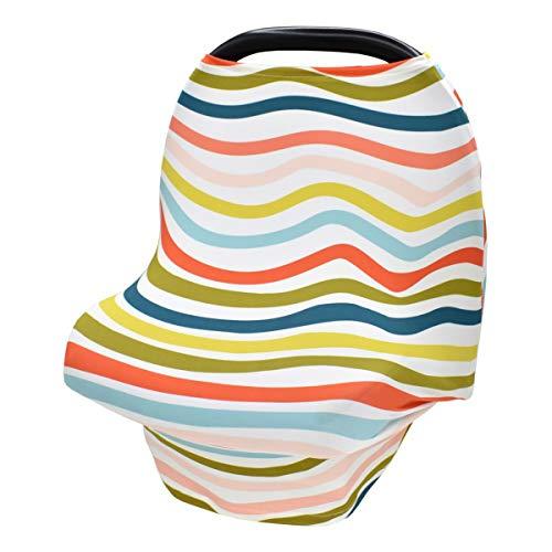 Nicoone Cubierta protectora para el cuidado del bebé, color arcoíris