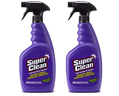 SuperClean Multi-Surface All Purpose Cleaner Degreaser Spray, Biodegradable, Full Concentrate, Scent Free, 32 Ounce, Pack of 2