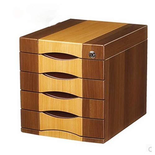 Archiefkast archiefkast multilayer massief hout met slot desktop-aktenkast laden-type data floor vitrine papieropslag Finishing Low Cabinet Office Data Setting Organizer 4 B