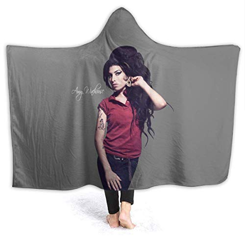 Hengtaichang Hooded Blanket Amy Winehouse Soul Music Blanket Super Soft Blanket Throws 60'x50'