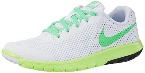 Nike Unisex-Kinder Flex Experience 5 Gs Laufschuhe, Elfenbein (White/Electro Green/Ghost Green/Black), 38 EU