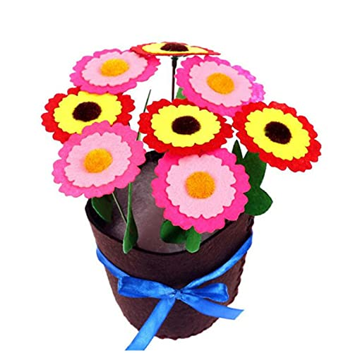 Felt Diy Crafts Kids Diy Flower Pot Potted Plant Kindergarden Learning Education Toys Teaching Aids Toy Crafts And Sewing,C