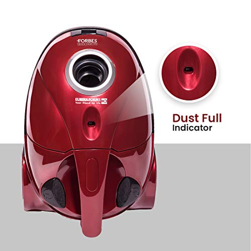 Eureka Forbes Quick Clean DX 1200-Watt Vacuum Cleaner (Red) with Free Dust Bags