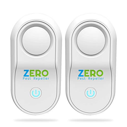 ZERO PEST REPELLER Ultrasonic Pest Repeller Control Reject Defender Electronic Plug-in Repellent for Home, Office, Warehouse, Hotel (2-Pack)