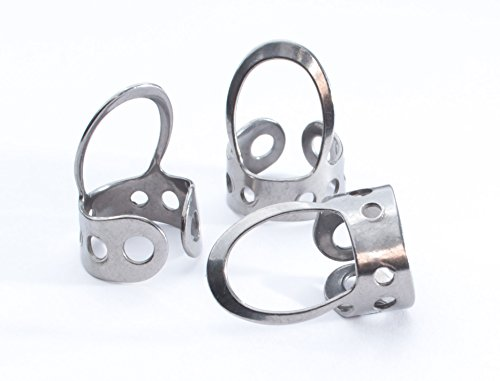3 x Stainless Steel, Open Design, Metal Finger Picks