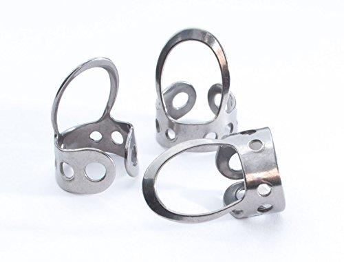 3 x Stainless Steel, Open Design, Metal Finger Picks
