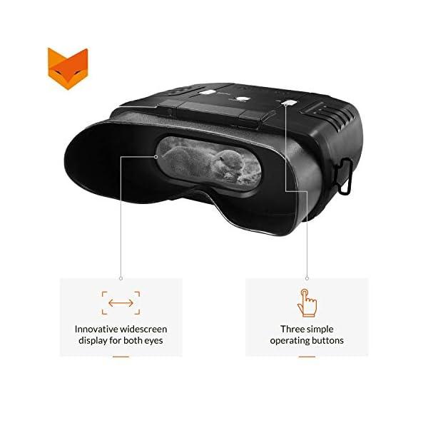 Nightfox 100V - Prismáticos de visión nocturna por infrarrojo digital - Visor panorámico - 3x20 2