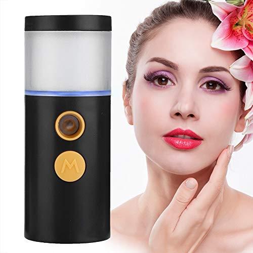 Pulvérisateur portatif rechargeable à vaporisateur hydratant pour le visage, nano pulvérisation (20 ml)(noir)