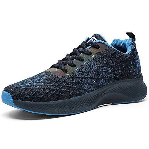 HIIGYL - Zapatillas de correr para hombre, zapatillas deportivas para correr en la calle, zapatillas de correr, zapatillas de senderismo, correr, fitness para hombre, color Azul, talla 42 1/3 EU