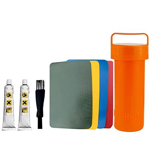 Juego de tubos de reparación de pegamento para deportes acuáticos de 8 piezas, Kit de pegamento de parche de reparación de PVC, Kit de reparación duradero resistente al agua para sofá de cuero
