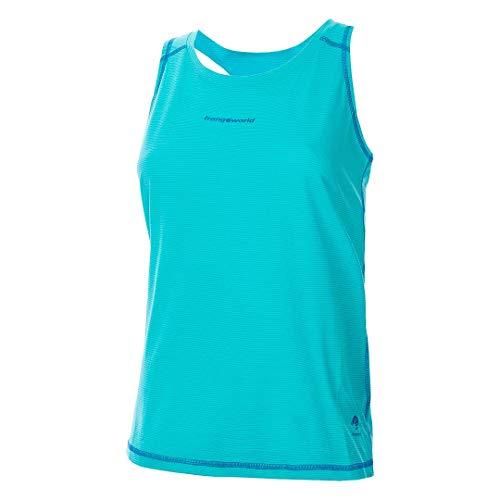 Trangoworld BAELLS Camiseta, Mujer, Azul Turquesa/Azul Oscuro, XS
