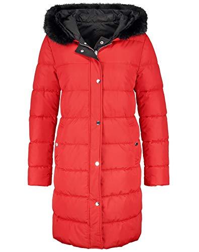 Taifun Damen 450013-11723 Jacke, Rot (Lipstick Red 6070), (Herstellergröße: 40)