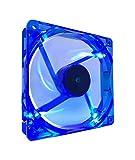 APEVIA CF12SL-UBL 120mm 4pin Molex + 3pin Motherboard Silent Blue LED Case Fan