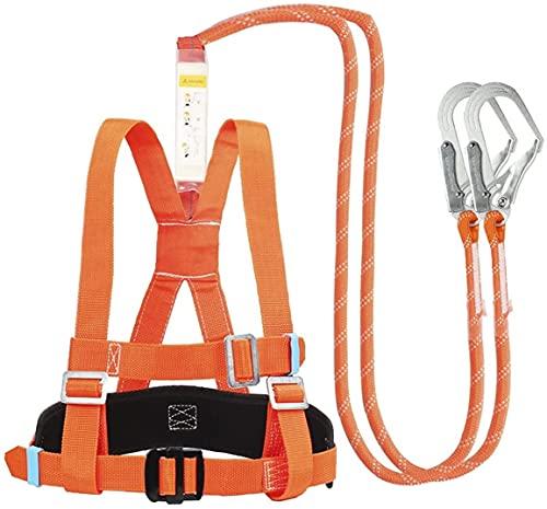 WXFCAS Kit de arresto de caída con una bolsa de búfer, techos industriales de protección de seguridad de la seguridad de la caída de medio cuerpo, kit de arresto de caída de construcción para techador