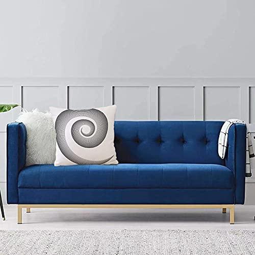 Set de 1 x Funda de Almohada 40x40cm,Spires, la Curva Dimensional en Espiral Gira Alrededor de un Eje en Movimiento Giratorio paraleloFundas de Cojines de Calidad con una Suavidad Incomparable