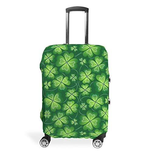 Jolyhui Luggage case Cover Washable Fashion Spandex Luggage Cover Anti-Water Luggage Protector St Patrick's Day Style white xl(30-32 inch)