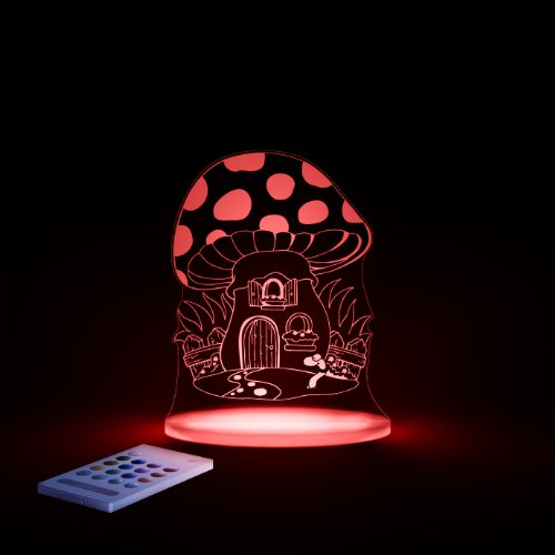 Aloka SleepyLight Toadstool Nachtlicht, mehrere LED, Farbe mit Fernbedienung für Kinder