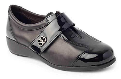 Calzafarma - Mod.14195 - Zapato de señora Horma Ancha, Aptos para Utilizar con Plantillas ortopédicas.