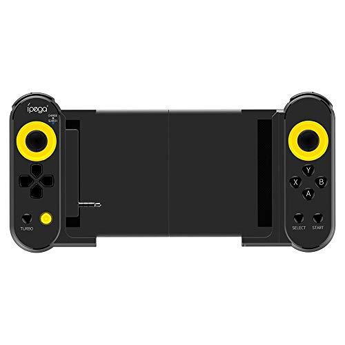 Hojkl Manette de Jeu Gamepad Bluetooth Stretchable Contrôleur De Jeu for iOS Android Mobile Tablet PC for Les Jeux PUBG Design Ergonomique (Color : Black, Size : One Size)