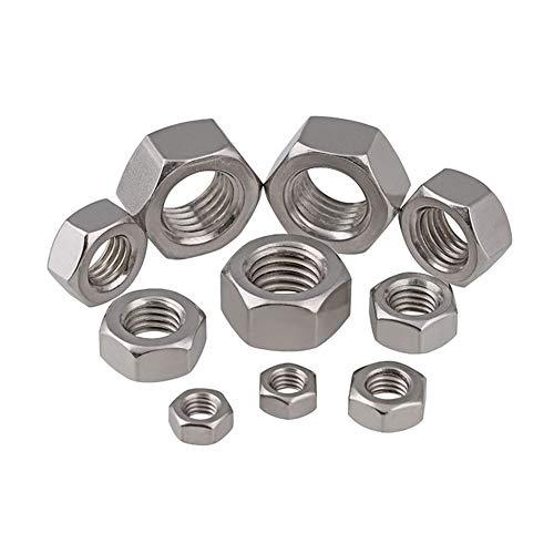 Preisvergleich Produktbild Zhuhaixmy M1.2 Hexagon Schraube Mutter,  Rostfreier Stahl Verhexen Metrisches Gewinde Bolzen Schließfachmuttern
