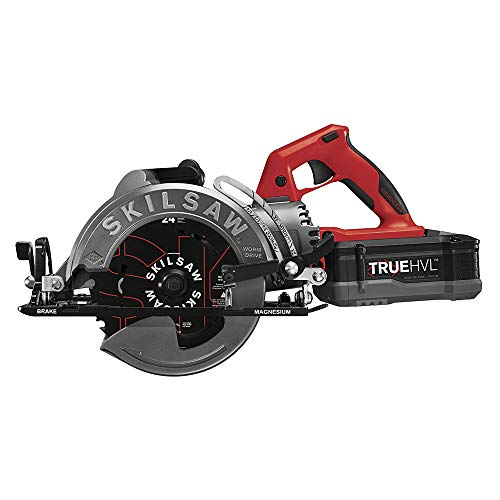 SKILSAW SPTH77M-11 48V 7-1/4 In. TRUEHVL Cordless Worm Drive Saw Kit With 1 TRUEHVL Battery