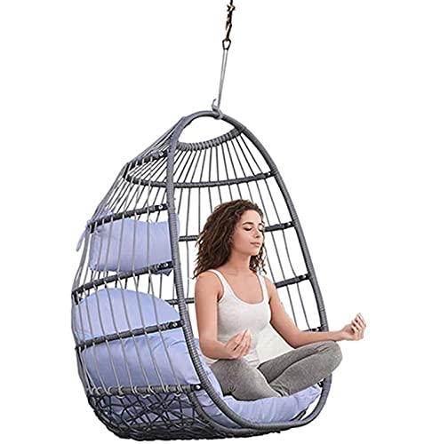 YAMMY Egg Chair Sillón suspendido con cojín para Interiores y Exteriores, Resistente, Puede soportar 200 kg, Adultos y niños, Interior y Exterior
