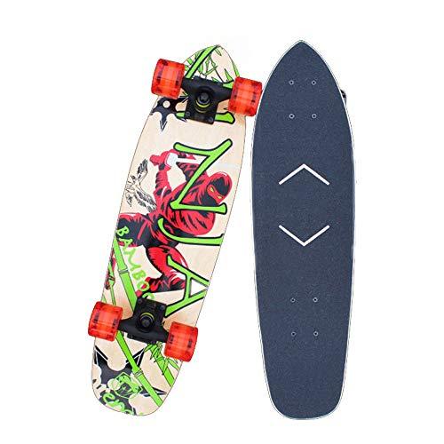 Hignful Komplette Mini Cruiser Skateboards Für Anfänger Longboard Deck Pennyboard Mädchen Ps4 Skateboard Spiele Kugellager Profi Skateboard Kiddy Board Für Kinder, Anfänger, Teenager