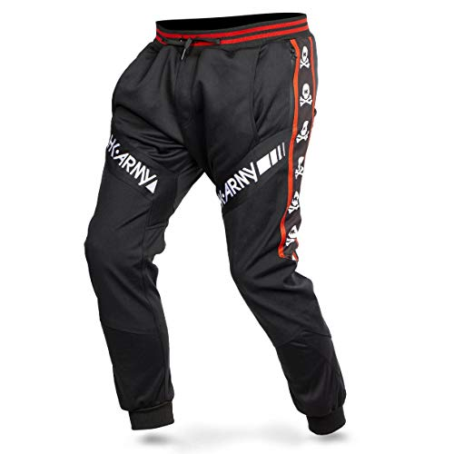 HK Army Paintball Pants - TRK Joggers (2X-Large, HK Skull Red)