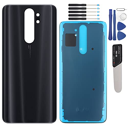 YHX-OU - Tapa de batería para Xiaomi Redmi Note 8 Pro de repuesto de la carcasa trasera + herramienta de instalación + 1 tarjeta SIM (negro)
