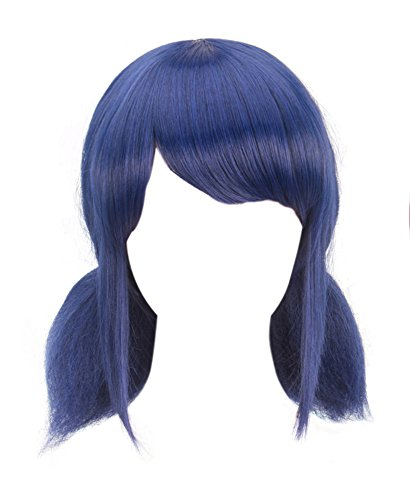 DAZCOS Girls Cosplay Blue Wig With Tails [ Adult/Child ] (Blue)