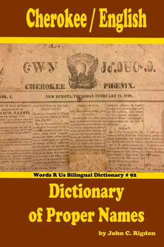 Cherokee / Diccionario Inglés de Nombres Propios (Diccionarios Bilingües WordsRU)