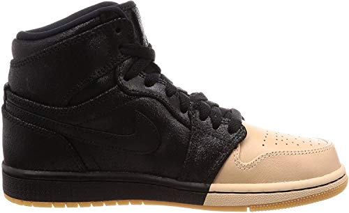 Jordan Wmns Air 1 Ret Hi Prem, Scarpe da Fitness Donna, Multicolore (Black/Metallic Gold 007), 38 EU