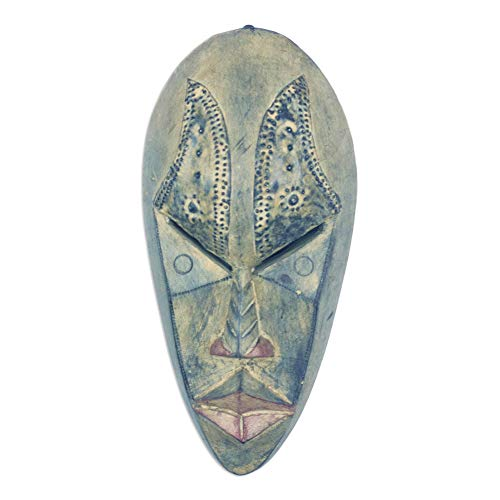 NOVICA Hand Carved African Wall Mask 'Brilliant Mind'