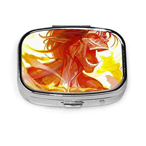 Fire S-hingeki N-o K-yojin Pill Box Personalized Decorative Box Tablet Holder for Pocket