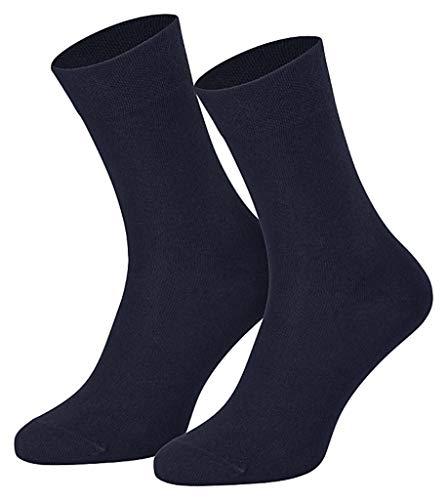 Art of baan® 4511/6 Paar Damen Komfort Socken ohne Gummi marine, 39/42