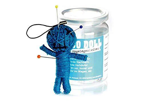 Voodoo Doll in Dose | lustige Mini-Voodoo-Puppe to go | ALLGEMEINE ANGELEGENHEITEN voodoo-doll | unverzichtbar wenn bei größeren oder kleineren Problemchen allgemeiner Art | SCHERZBOUTIQUE