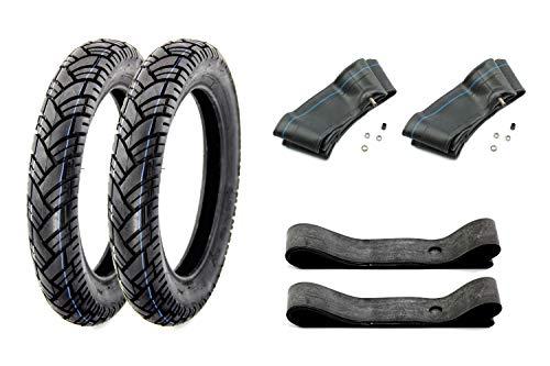 SET 2x VEE RUBBER Reifen 3,00 x 12 Zoll VRM 094 43J, laufrichtungsgebunden, Schlauch und Felgenband für Simson Roller SR50, SR80