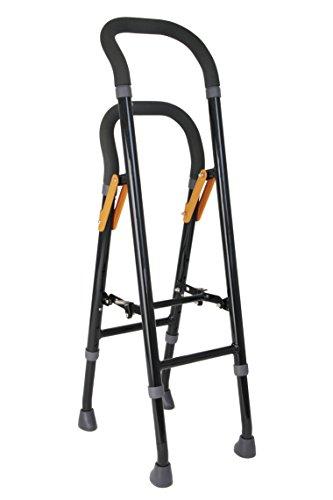 【非課税】幸和製作所 手すりな杖 CAM04-BK ブラック