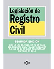 Legislación de Registro Civil (Derecho - Biblioteca de Textos Legales)