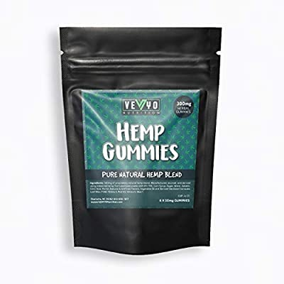 VEYO Nutrition 300 MG Hemp Gummies - Sour Hemp Gummy Worms with Natural Hemp Oil, No THC or CBD from VEYO Nutrition